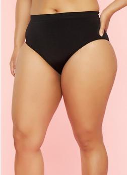 Plus Size Seamless Bikini Panties - 7166064877765