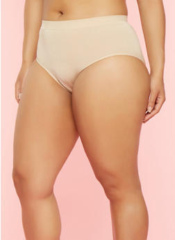 Plus Size Seamless Bikini Panty - NUDE - 7166064877765