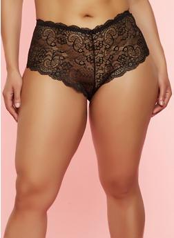 Plus Size Lace Cheeky Panty | 7166064878550 - 7166064878550