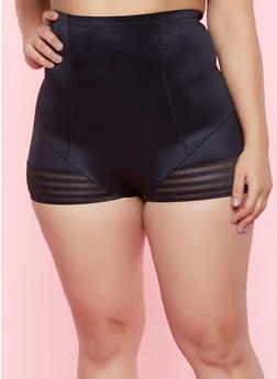 Womens Plus Size off Black Panties