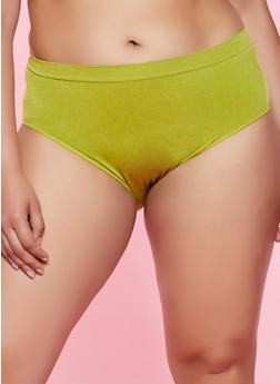 Plus Size Solid Bikini Panty | 7166064879308 - 7166064879308