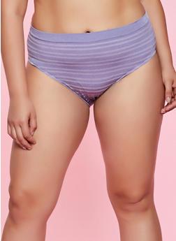 Plus Size Striped Bikini Panty | 7166064879311 - 7166064879311
