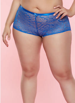 0bdf40cd4e8d Plus Size Lace Caged Back Boyshort Panty - 7166068064044