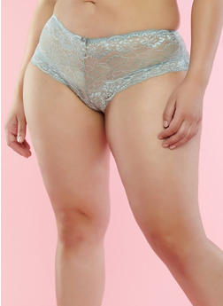 Plus Size Jade Lace Boyshort Panties - 7166068068337