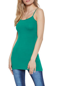 Basic Cami Tank Top - Green - Size M - 7201054260342
