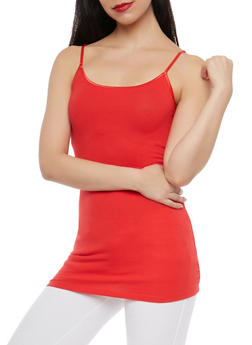 Womens Cami Tank Tops Red