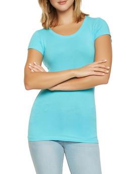 Basic Scoop Neck T Shirt - 7202054264002
