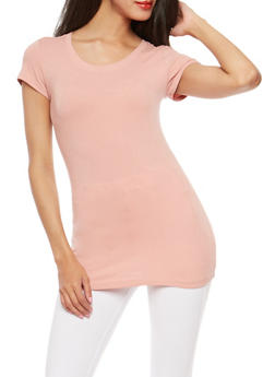 5c03b88a6c76 Basic Scoop Neck T Shirt - 7202054264002