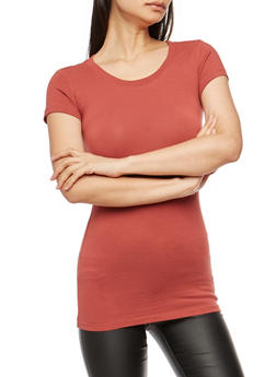 Basic Scoop Neck T Shirt - 7202054264002