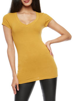 Basic V Neck T Shirt - 7202054265002
