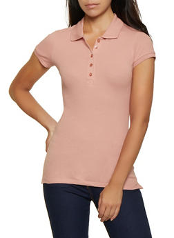 Basic Short Sleeve Polo Shirt - 7203054263537