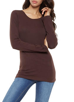 Basic Long Sleeve Crew Neck Tee - 7204054264800