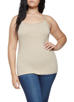 Plus Size Basic Cami - 7241054260001