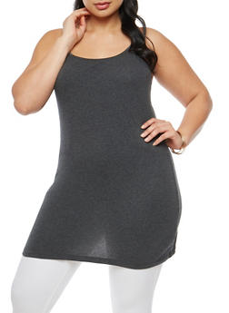 c35e28483fd01 Plus Size Basic Tunic Cami - 7241054260040