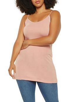 Plus Size Basic Tunic Cami - 7241054260040