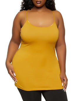 Plus Size Basic Tunic Cami - 7241054260040