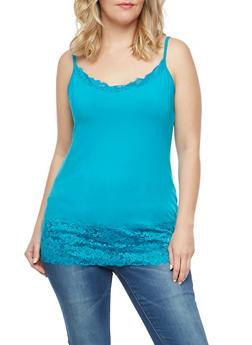 Plus Size Lace Trim Cami - 7241054268329