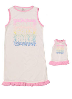 Girls 4-16 Smart Girls Rule Nightgown Set - 7568054730317