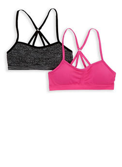 Girls 4-16 Set of 2 Padded Cami Bras - 7568054730380