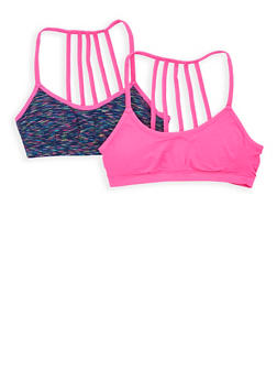 Girls 4-16 Padded Caged Back Cami Bras - 7568054730381