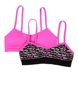Girls 4-16 Set of 2 Padded Cami Bras - 7568054730416