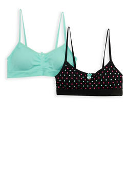Girls 4-16 Set of 2 Cami Bras - 7568054730418