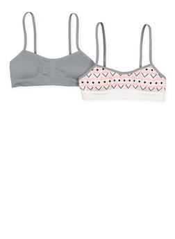 Girls 7-16 Set of 2 Padded Cami Bras - 7568054730419