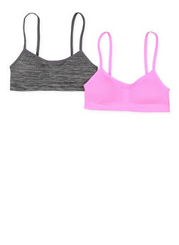 Girls 7-16 Set of 2 Mesh Padded Cami Bras - 7568054730423