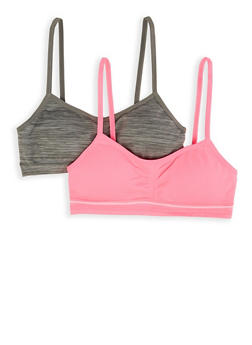 Girls 7-16 Set of 2 Seamless Cami Bras - 7568054730427