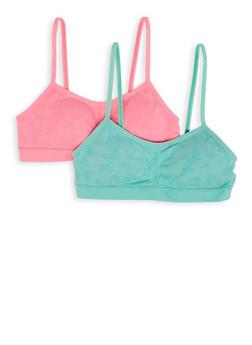 Girls 7-16 2 Pack Seamless Padded Cami Bras - 7568054730428