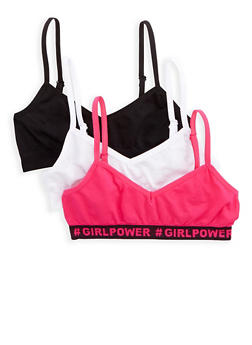 Girls 4-16 Set of 3 Cami Bras - 7568054730441