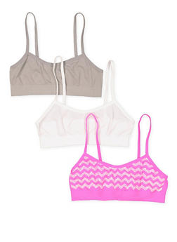 Girls 4-16 Set of 3 Cami Bras - 7568054730445