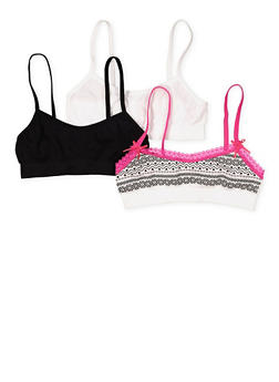 Girls 7-16 Set of 3 Cami Bras - 7568054730447