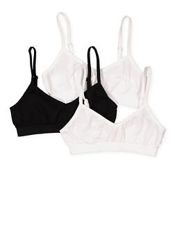 Girls 7-16 Set of 3 Cami Bras - 7568054730448