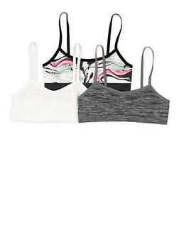 Girls 7-16 Set of 3 Cami Bras - 7568054730449
