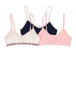Girls 7-12 Set of 3 Seamless Cami Bras - 7568054730452