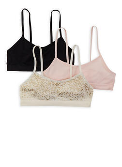 Girls 7-12 Set of Seamless Cami Bras - 7568054730453