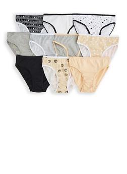 Girls 4-6x Printed 10 Pack Panties - 7568054730488