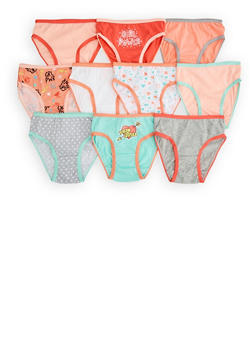 Girls 4-6x Assorted 10 Pack Grl Pwr Panties - 7568054730489