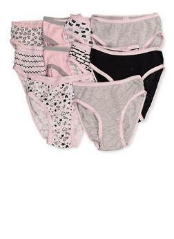 Girls 4-6x 10 Pack Assorted Panties - 7568054730496