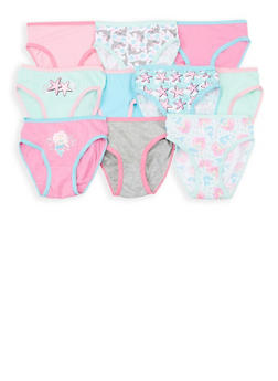 Girls 4-6x 10 Pack Assorted Panties - 7568054730504