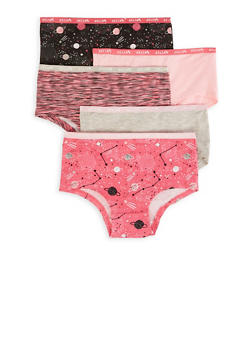 Girls 7-16 Pack Of Space Print Panties - 7568054730568