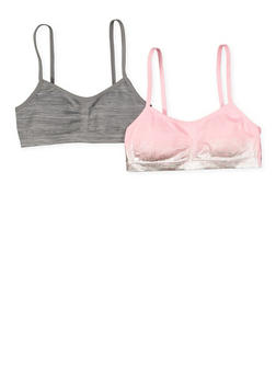 Girls 7-16 Set of 2 Padded Cami Bras - 7568054730700