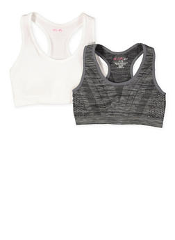 Girls 7-16 Set of 2 Racerback Sports Bras - 7568054730711