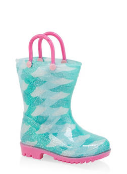 Girls 5-10 Printed Rain Boots - 7570038340006