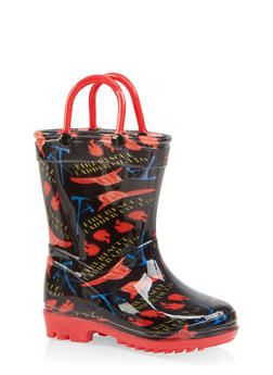 Girls 5-10 Printed Rain Boots - 7570038340007