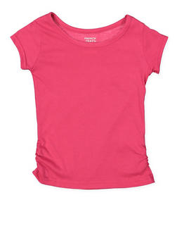 Girls 4-6x French Toast Ruched Tee - 7603068320009