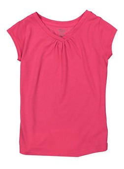 Girls 4-6x French Toast V Neck Tee - 7603068320016