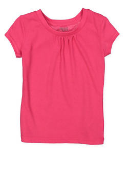 Girls 4-6x French Toast Shirred Tee - 7603068320021