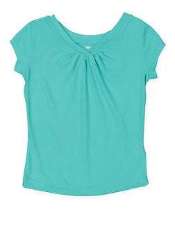 Girls 4-6x French Toast V Neck Tee - 7603068320025